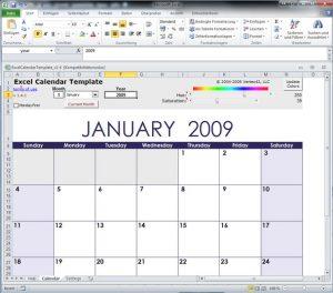 Excel-Kalender