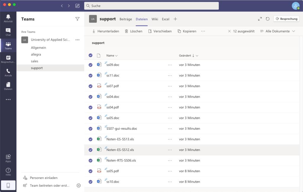 Microsoft Teams Kollaborations-Tool